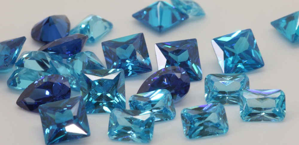 Cubic Zirconia Blue